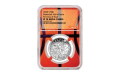 2020-S Basketball Hall of Fame Half-Dollar NGC PF70 First Day of Issue w/Basketball Core