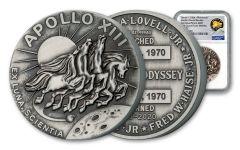 2020 2-oz Silver Apollo 13 Robbins Medal NGC MS70