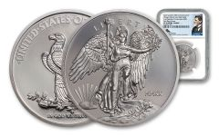 2020 1-oz Palladium Saint-Gaudens Winged Liberty Ultra High Relief Proof Medal NGC PF70UC First Day of Issue w/Mercanti Signature