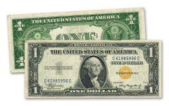 1935 $1 Silver Certificate North Africa Fine+