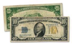 1935 $10 Silver Certificate North Africa Fine+