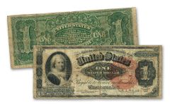 1886 $1 SILVER CERTIFICATE MARTHA WASHINGTON FINE