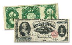 1891 $1 SILVER CERTIFICATE MARTHA WASHINGTON FINE
