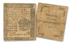 1760-1786 COLONIAL PAPER CURRENCY NOTE