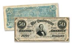 $50 1864 CONFEDERATE NOTE F/VF