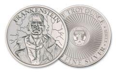 Intaglio Mint 1-oz Silver Vintage Horror Series Frankenstein Round BU