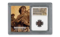 330–337 Ancient Bronze Constantinopolis Guardian Angel NGC XF