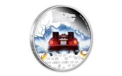 2020 Niue $2 1-oz Silver Back to the Future 35th Anniversary Colorized Proof