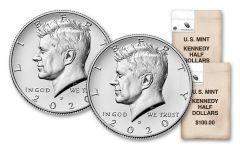 2020-P&D Kennedy Half Dollar Bag of 200 Coins