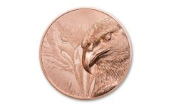 2020 Mongolia Majestic Eagle Ultra High Relief 50g Copper Proof Coin GEM Proof OGP