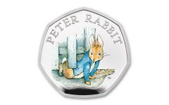 2020 Great Britain 50 Pence 8-gm Silver Peter Rabbit Proof