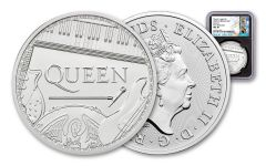 2020 Great Britain £2 1-oz Silver Legends of Music: Queen NGC MS70 First Releases w/Black Core