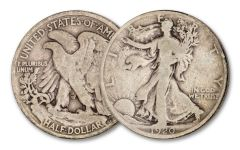 1920-P 50 CENT WALKING LIBERTY SILVER VG