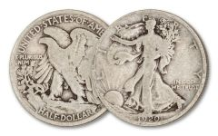 1920-D 50 CENT WALKING LIBERTY SILVER VG