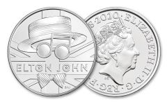 2020 Great Britain £5 28.28-gm CuNi Legends of Music: Elton John BU