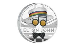 2020 Great Britain £2 1-oz Silver Legends of Music: Elton John Proof