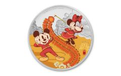 2020 Niue $2 1-oz Silver Disney Year of the Mouse—Prosperity Colorized Gem Proof