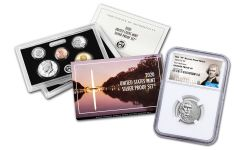 2020-W Reverse Proof Jefferson Nickel NGC PF69 First Releases w/ 2020-S U.S. Silver Proof Set