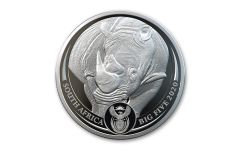 2020 South Africa 1-oz Silver Big 5 Rhino Proof
