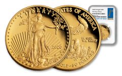 2020-W $50 1-oz Gold American Eagle Proof NGC PF69UC First Day of Issue