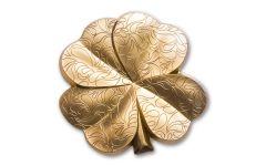 2020 Palau $5 Gilded 1-oz Silver Four Leaf Clover Shaped Coin BU