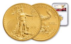 2020 $5 1/10 OZ GOLD EAGLE NGC MS70  EAGLE