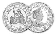2020 Saint Helena £1 1-oz Silver French Trade Dollar BU