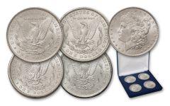 1880s Morgan Silver Dollar Mint Mark 4-pc Set BU