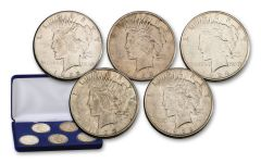 1922–1926-S Peace Silver Dollar 5-pc Set XF