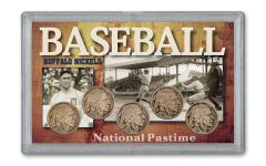 1924–1928-P Buffalo Nickel 1920s Baseball 5-pc Set Fine