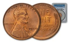 1940-P One Cent Lincoln PCGS MS66 Red