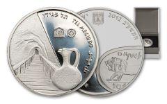 """2012 Israel Silver """"Tel Megiddo"""" New Shequel Proof-Like"""