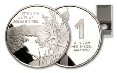 "2013 Israel Silver ""Jordan River"" New Shequel Proof-Like"