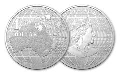 2020 Australia $1 1-oz Silver Beneath the Southern Skies BU