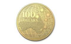 2020 Australia $100 1-oz Gold Beneath the Southern Skies BU