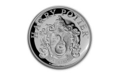 2020 Gibraltar £1 1/3-oz Silver Harry Potter Hogwarts Slytherin House Proof