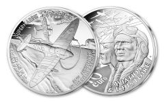 2020 France €10 22.2-gm Silver Supermarine Spitfire Proof