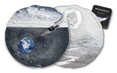 2019 Cook Islands $2 1/2-oz Titanium-Silver Estacado Meteorite Colorized Specimen