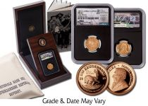 1895 South Africa Gold 1/2 Pond and 1/10-oz Gold Krugerrand Lost Hoard 2-pc Set NGC XF45