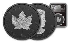 2020 Canada 1 oz Silver Maple Leaf - Incuse Black Proof $20 Coin NGC PF70 FDI Black Core Exclusive Canada Label w/ COA