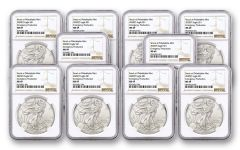 2020(P) $1 1-oz Silver Eagle Struck At Philadelphia Emergency Production 10 pack NGC MS69 w/Brown Label