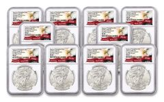 2020(P) $1 1-oz Silver Eagle Struck At Philadelphia Emergency Production 10-Pack NGC MS69 First Day of Issue w/Eagle Label
