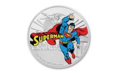 2020 $2 1OZ SLV NIUE 60TH ANIV SUPERMAN COLOR GEM