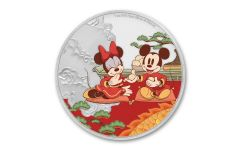 2020 Niue $2 1-oz Silver Disney Year of the Mouse — Good Fortune Colorized Proof