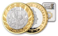 2020 Great Britain £2 12-gm Silver 75th anniversary of VE Day NGC PF70UC First Releases