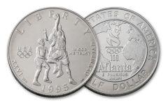 1995-S Atlanta Olympics Basketball Half Dollar BU