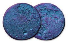 """6.5-Gram Niobium """"Blurple"""" Moon Antiqued Medal"""