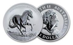 2020 Australia $1 1-oz Silver Brumby Horse BU