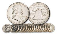 1948–1963 Franklin Silver Half Dollar 20-Coin Set
