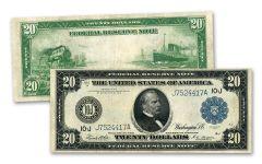 1914 $20 Federal Reserve Note AU